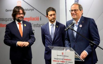 The President of the Generalitat de Catalunya, Quim Torra, inaugurates the widening of the Provença station
