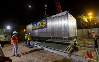Calaf fabrica i instal·la les noves taquilles a la Sagrada Família