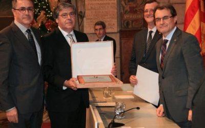 Constructora Calaf obtient la Plaque du travail Président Macià 2012