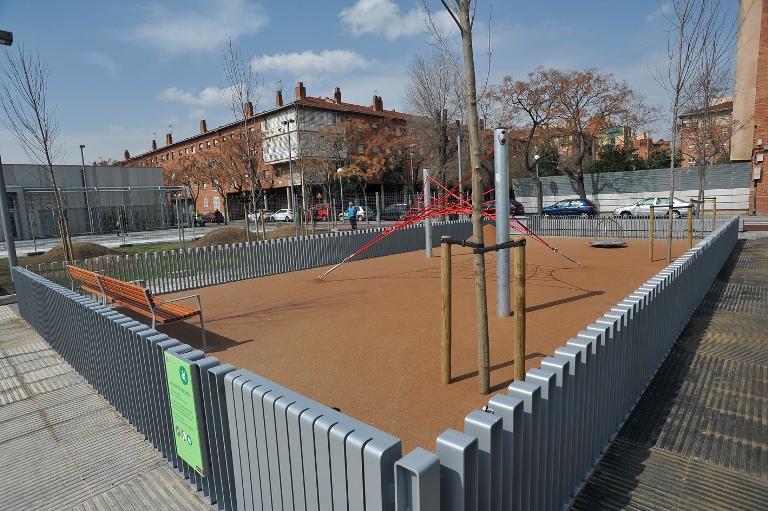 Inauguration de la nouvelle Place Baró de Viver de Barcelone