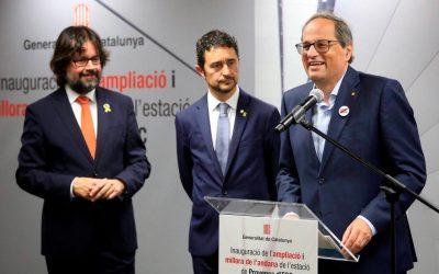 Le président de la Generalitat de Catalunya, Quim Torra, inaugure l'élargissement de la gare de Provença