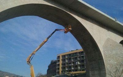 Eixamplament del pont gòtic de Monistrol