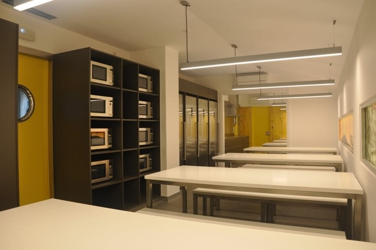 Completion of works at the canteen of Sagrada Família