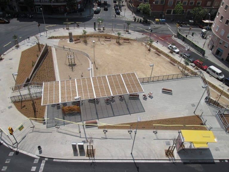 Finalitzen les obres a la Plaça Sanllehy de Barcelona