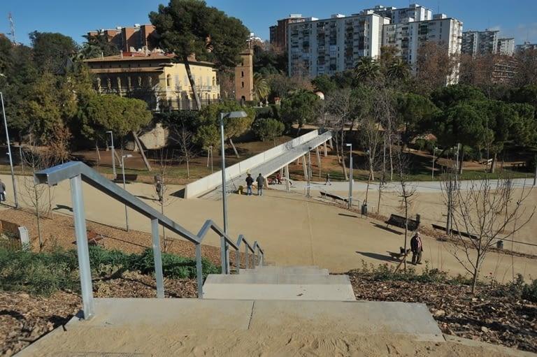 Redevelopment of the park Can Buxeres in L'Hospitalet de Llobregat (Barcelona)
