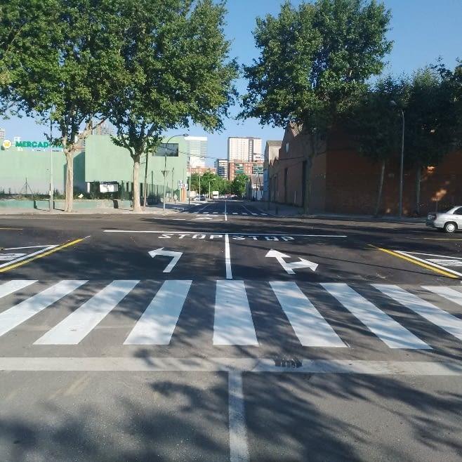 Trabajos urbanos terminados en la zona 22 @ de Barcelona